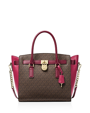 Michael Michael Kors Hamilton East/West Logo Large Satchel