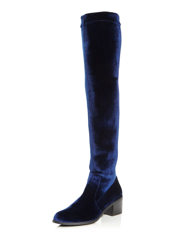 Sol Sana Bianca Velvet Over-the-Knee Boots