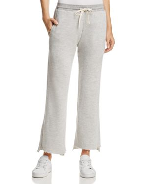 Sundry Flared Step-Hem Sweatpants