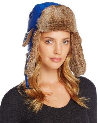 $Crown Cap Rabbit Fur Aviator Hat - Bloomingdale's