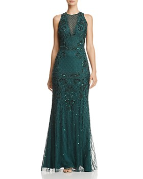 Adrianna Papell - Sleeveless Beaded Gown