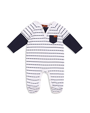 7 For All Mankind Boys Striped Footie  Baby