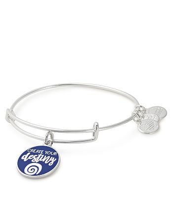 Alex and Ani - Words Are Powerful Create Your Destiny Expandable Wire Bangle