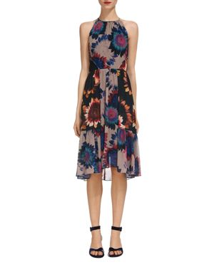Whistles Abstract Sunflower Print Dress