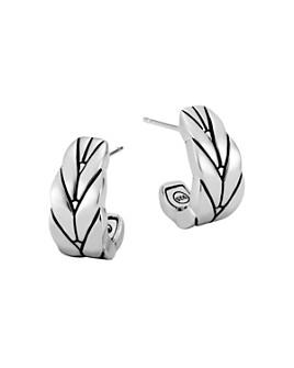 JOHN HARDY - Sterling Silver Modern Chain Small J Hoop Earrings