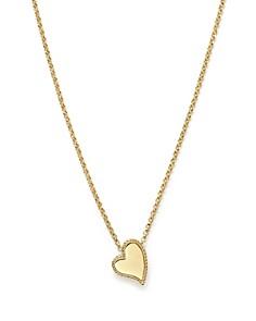 "Roberto Coin - 18K Yellow Gold Tiny Treasures Heart Pendant Necklace, 17"""