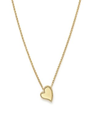 Roberto Coin 18K Yellow Gold Tiny Treasures Heart Pendant Necklace, 17