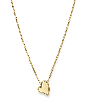 Roberto Coin 18K Yellow Gold Tiny Treasures Heart Pendant Necklace, 17
