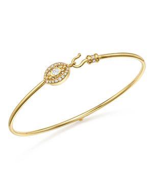 Temple St. Clair 18K Yellow Gold Mini Evil Eye Pave Diamond Bracelet