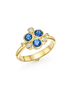 Temple St. Clair - 18K Yellow Gold Sapphire and Diamond Trio Ring