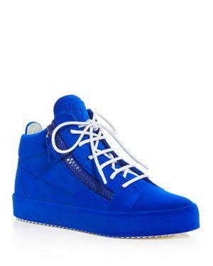 Giuseppe Zanotti Women's Velvet Mid Top Platform Sneakers 2857675