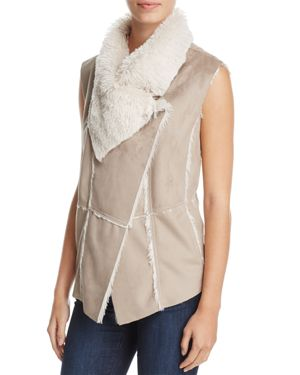 cupcakes and cashmere Arden Faux Shearling Vest
