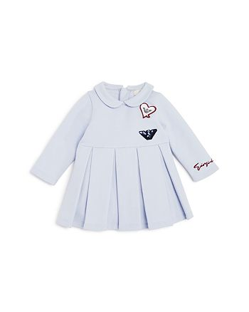 Armani Junior - Girls' Pleated Logo-Patches Dress - Baby