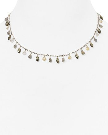 """Chan Luu - Sterling Silver & Stone Necklace, 15"""""""
