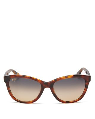 MAUI JIM Canna 54Mm Polarized Cat Eye Sunglasses - Mocha Tortoise/ Bronze in Brown / Gold Polar