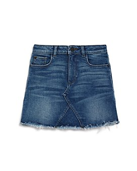 DL1961 - Girls' Frayed Denim Skirt - Big Kid