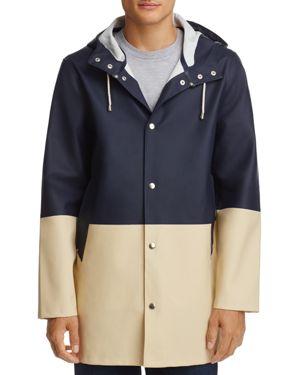 Stutterheim Hooded Color-Block Raincoat