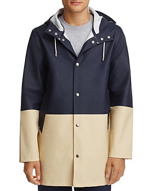 Stutterheim Hooded Color-Block Raincoat