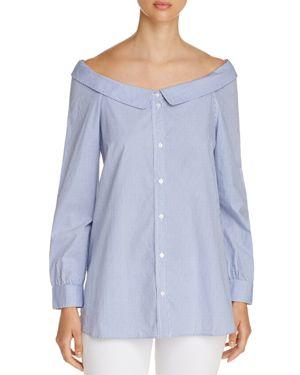 Vero Moda Boat-Neck Striped Shirt