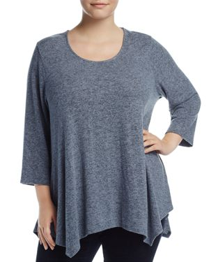 B Collection by Bobeau Curvy Langley Space-Dye Sweater