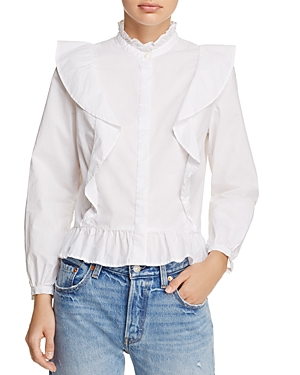 Birds of Paradis Victorian Ruffled Shirt