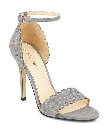 fb16db0d7b8 IVANKA TRUMP Helina Scalloped High-Heel Ankle Strap Sandals ...