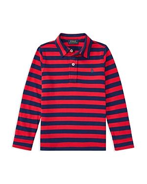 Ralph Lauren Childrenswear Boys Striped LongSleeve Polo Shirt  Little Kid