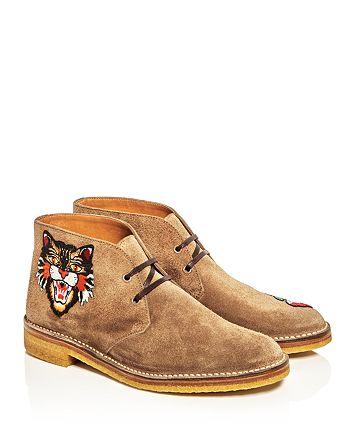 Gucci - Appliqué Chukka Boots