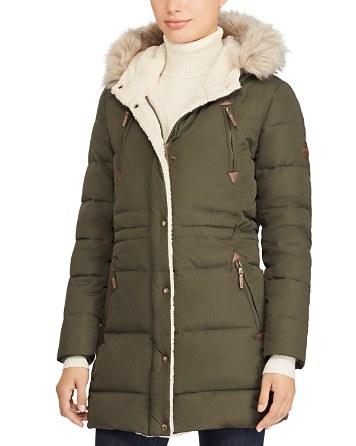 $Lauren Ralph Lauren Packable Hooded Down Coat - Bloomingdale's
