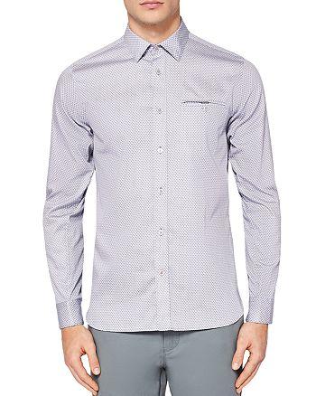 Ted Baker - Vilamor Geo Printed Regular Fit Button-Down Shirt