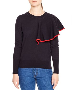 Sandro Anuk Ruffle Sweater