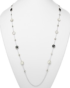 """IPPOLITA - Sterling Silver Rock Candy® Mother-of-Pearl Doublet, Hematite Doublet & Clear Quartz Long Station Necklace in Piazza, 42"""""""