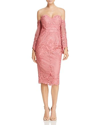 Bariano - Portia Off-the-Shoulder Lace Dress