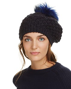 Echo Fur Pom-Pom Knit Beret - Bloomingdale's_0