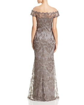 Tadashi Shoji - Illusion Off-The-Shoulder Lace Gown