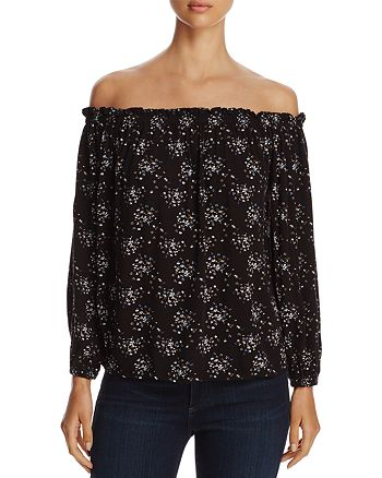 4OUR DREAMERS - Floral-Print Off-the-Shoulder Top