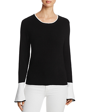 Marled Color Block Flare-Sleeve Sweater - 100% Exclusive