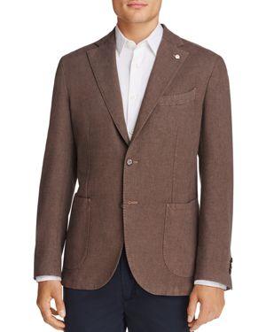 L.b.m Sharkskin Solid Slim Fit Sport Coat