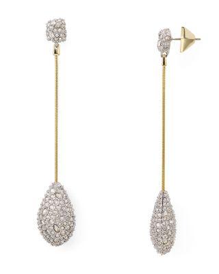 ALEXIS BITTAR Elements Long Teardrop Earrings in Gold