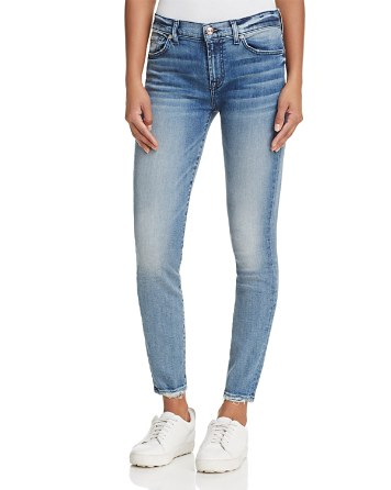$7 for All Mankind Skinny Jeans in Wall Street Heritage - Bloomingdale's