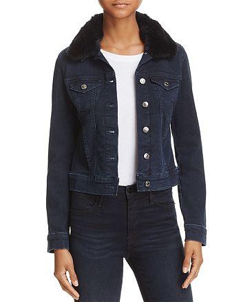 Mavi - Samantha Faux Fur-Collar Denim Jacket