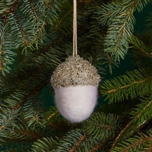 Bloomingdale's Silver Beaded Acorn Ornament - 100% Exclusive
