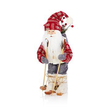 Bloomingdale's - Vintage Skiing Santa Figurine - 100% Exclusive