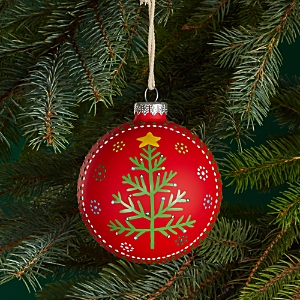 Bloomingdale's Red Christmas Tree Ball Ornament - 100% Exclusive