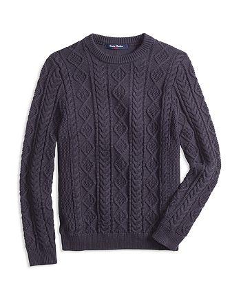 Brooks Brothers - Boys' Cable-Knit Crewneck Sweater - Little Kid, Big Kid