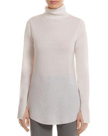 HALSTON HERITAGE - Wool-Cashmere Cutout Tunic Sweater
