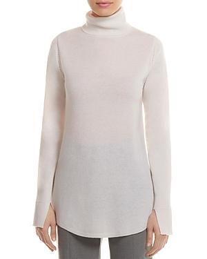 Halston Heritage Wool-Cashmere Cutout Tunic Sweater