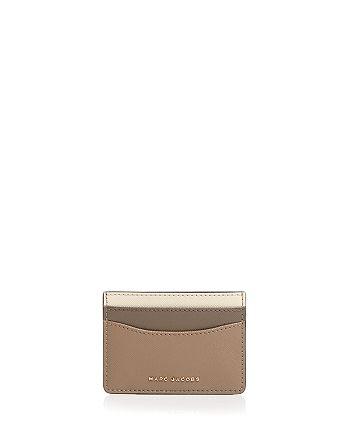 MARC JACOBS - Color Block Saffiano Leather Card Case
