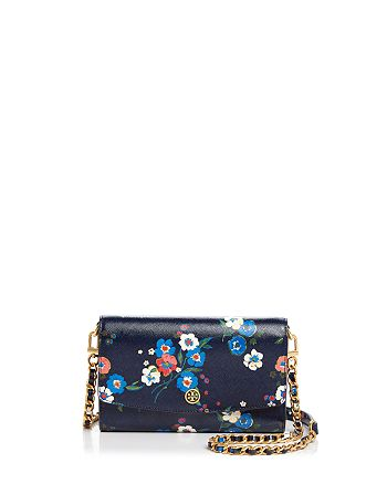1ab79683a11 Tory Burch Parker Floral Print Chain Wallet