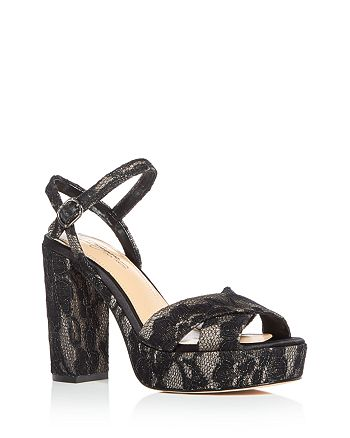 32c48ab46a3 Imagine VINCE CAMUTO - Women s Valora Satin   Lace Block Heel Platform  Sandals